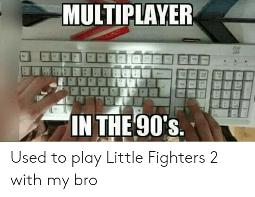 multiplayer: MULTIPLAYER  IN THE 90's Used to play Little Fighters 2 with my bro