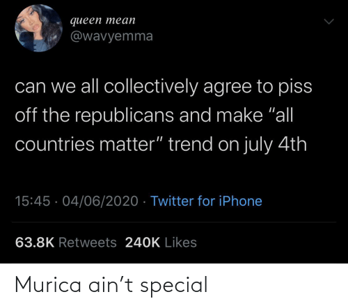 special: Murica ain't special