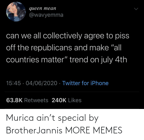 special: Murica ain't special by BrotherJannis MORE MEMES