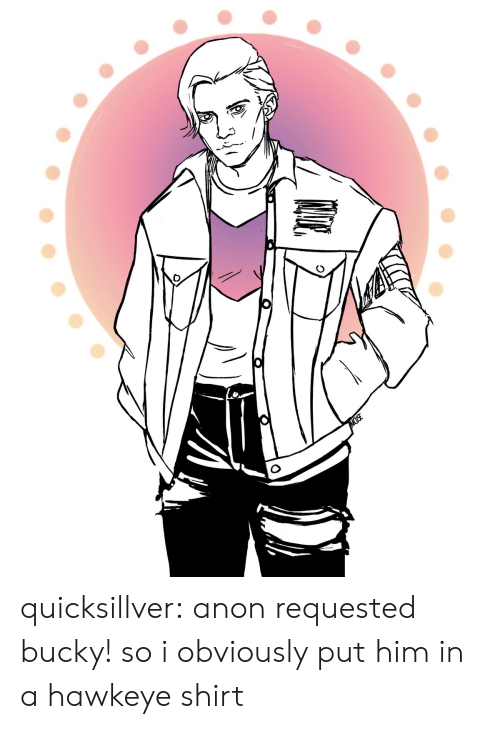 Muse: MUSE quicksillver: anon requested bucky! so i obviously put him in a hawkeye shirt