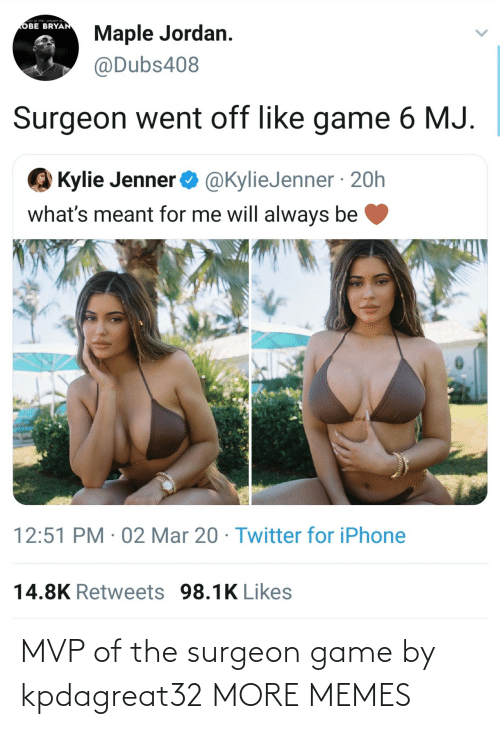mvp: MVP of the surgeon game by kpdagreat32 MORE MEMES