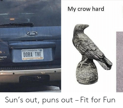 Dora: My crow hard  sINDIANA  DORA THE Sun's out, puns out – Fit for Fun