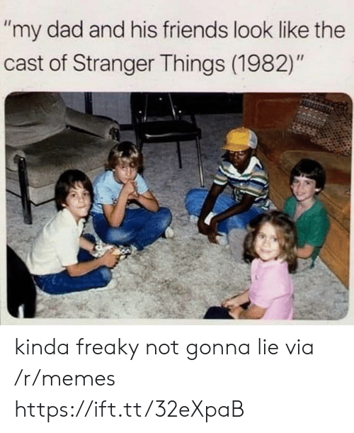 """freaky: """"my dad and his friends look like the  cast of Stranger Things (1982)"""" kinda freaky not gonna lie via /r/memes https://ift.tt/32eXpaB"""