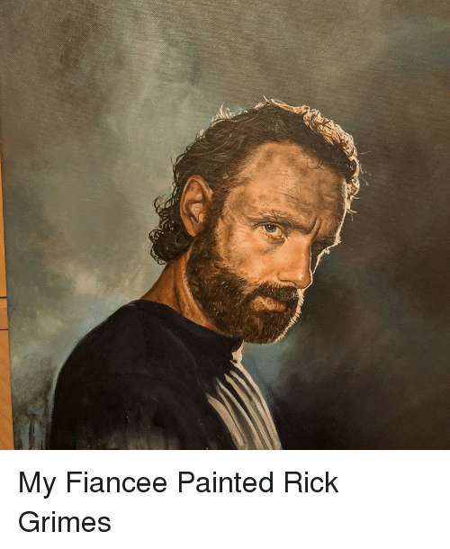 grimes: My Fiancee Painted Rick Grimes