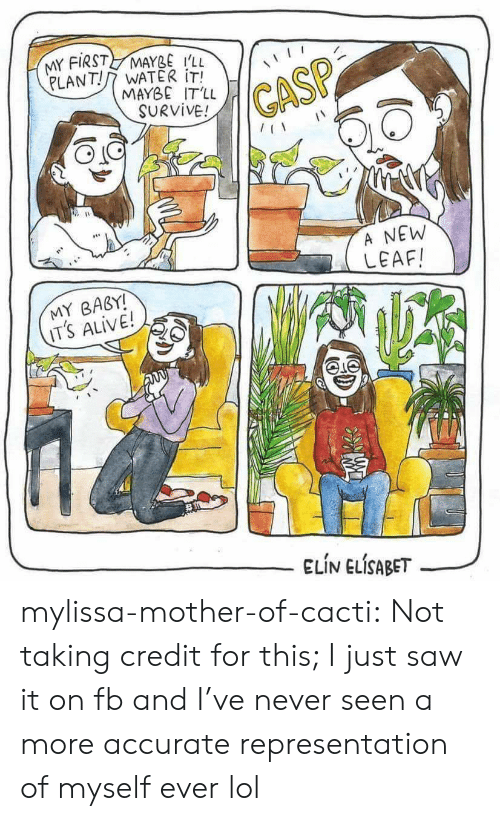 it's alive: MY FIRST MAYBE i'll  PLANT!/7 WATER İTİ  MAYBE IT'LL  SURVIVE!  GASP  118  A NEW  LEAF  MY BABY!  IT's ALIVE!  ELIN ELİSABET--/ mylissa-mother-of-cacti:  Not taking credit for this; I just saw it on fb and I've never seen a more accurate representation of myself ever lol