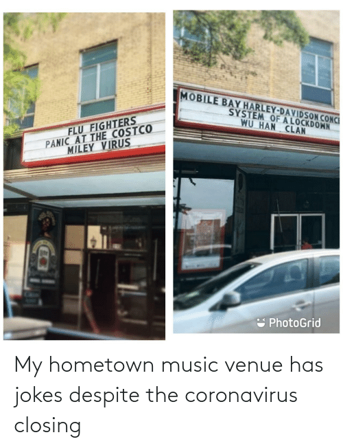 Jokes: My hometown music venue has jokes despite the coronavirus closing