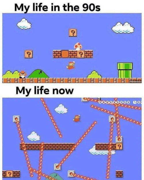 the 90s: My life in the 90s  Nintendo  My life now  o000000 co