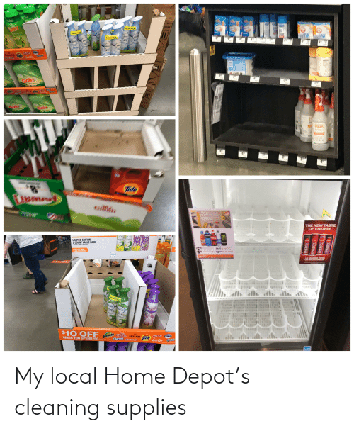 Depot: My local Home Depot's cleaning supplies