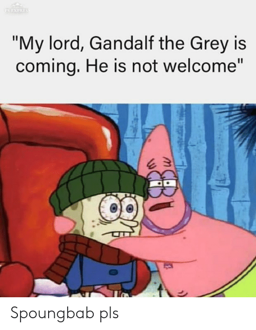 """The Lord of the Rings: """"My lord, Gandalf the Grey is  comina, He is not welcome"""" Spoungbab pls"""