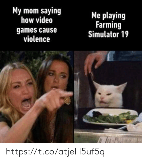 Simulator: My mom saying  how video  Me playing  Farming  Simulator 19  games cause  violence https://t.co/atjeH5uf5q