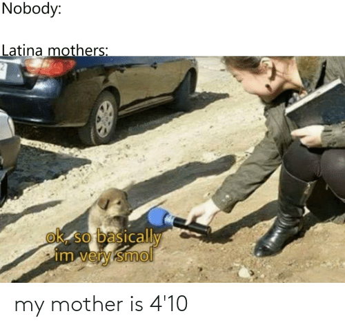 Mother, My, and My-Mother: my mother is 4'10