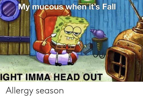 Mucous: My mucous when it's Fall  IGHT IMMA HEAD OUT Allergy season