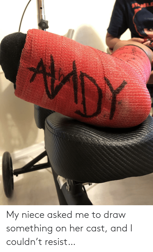 cast: My niece asked me to draw something on her cast, and I couldn't resist…