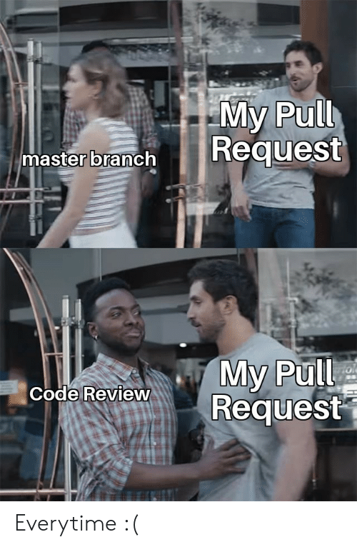 Code, Master, and Review: My Pull  master branch  My Pull  Request  Code Review Everytime :(