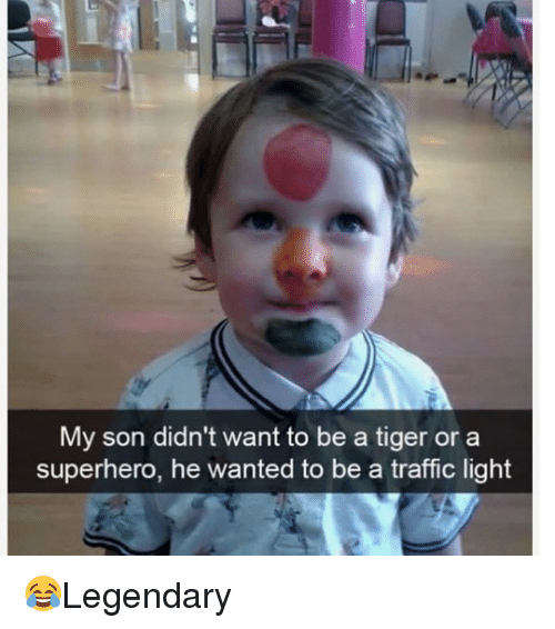lighted: My son didn't want to be a tiger or a  superhero, he wanted to be a traffic light 😂Legendary