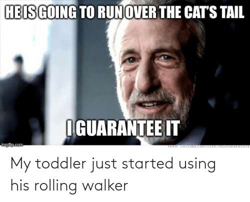 toddler: My toddler just started using his rolling walker
