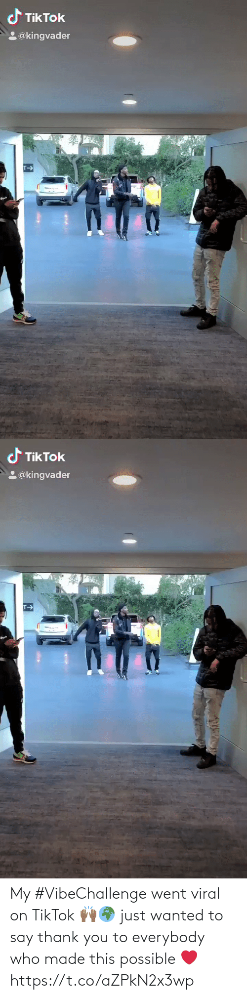 Just Wanted: My #VibeChallenge went viral on TikTok 🙌🏾🌍 just wanted to say thank you to everybody who made this possible ❤️ https://t.co/aZPkN2x3wp