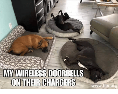 wireless: MY WIRELESS DOORBELLS  ON THEIR CHARGERS  www.ibrotg