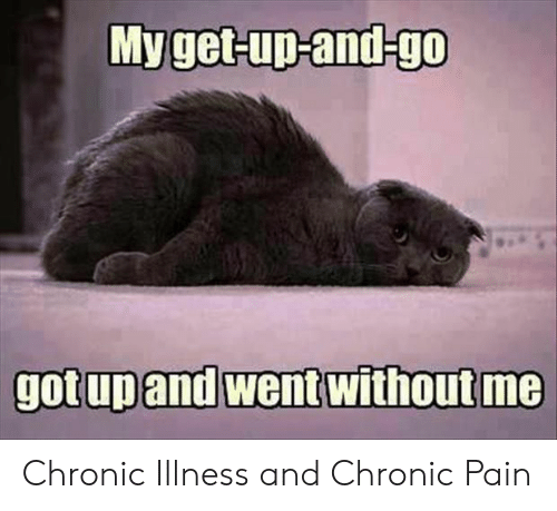 without me: Myget-up-and-go  gotup and went without me Chronic Illness and Chronic Pain