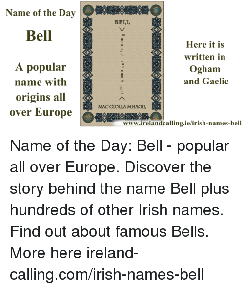 the story behind bell John bell (1750-1820) often called ol' jack bell by kate, john bell is the only person in history whose death was attributed to the doings of a spirit in 1817, bell contracted a mysterious affliction that worsened over the next three years, ultimately leading to his death.