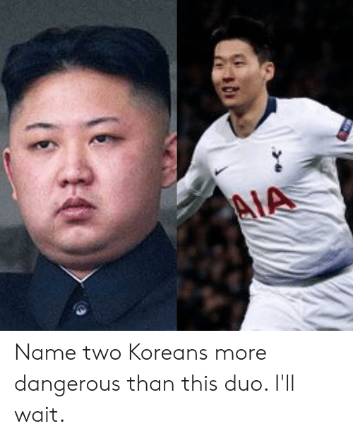 Ill Wait: Name two Koreans more dangerous than this duo. I'll wait.
