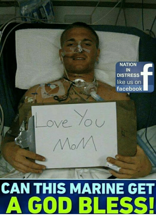 """Facebook, God, and Love: NATION  IN  DISTRESS  like us on  facebook  Love.""""  CAN THIS MARINE GET  A GOD BLESS!"""