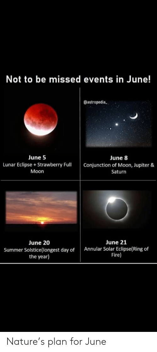 June: Nature's plan for June