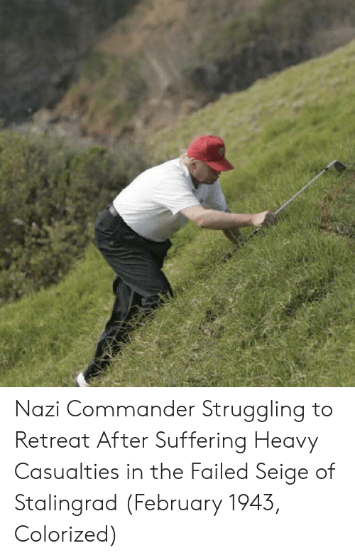 Suffering, Stalingrad, and Nazi: Nazi Commander Struggling to Retreat After Suffering Heavy Casualties in the Failed Seige of Stalingrad (February 1943, Colorized)