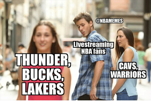 Cavs, Los Angeles Lakers, and Nba: @NBAMEMES  Livestreaming  NBAfans  THUNDER  CAVS,  = WARRIORS  LAKERS