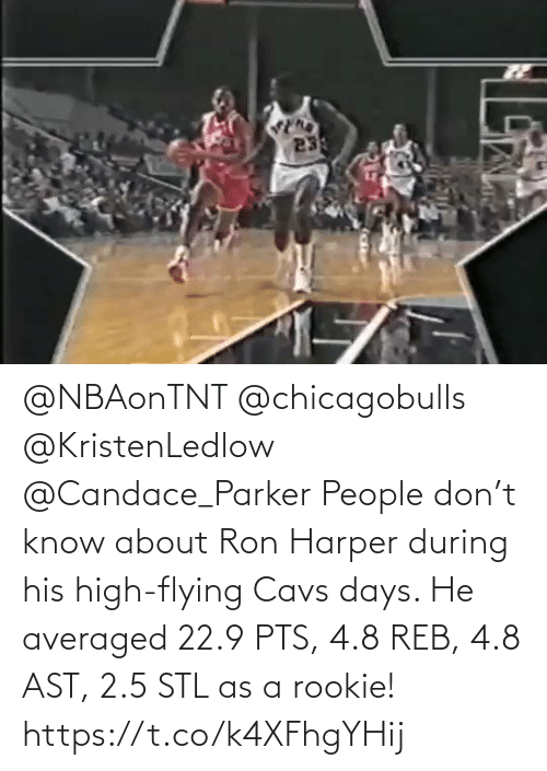 cavs: @NBAonTNT @chicagobulls @KristenLedlow @Candace_Parker People don't know about Ron Harper during his high-flying Cavs days.   He averaged 22.9 PTS, 4.8 REB, 4.8 AST, 2.5 STL as a rookie!   https://t.co/k4XFhgYHij