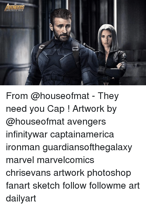 Photoshoper: NCERS From @houseofmat - They need you Cap ! Artwork by @houseofmat avengers infinitywar captainamerica ironman guardiansofthegalaxy marvel marvelcomics chrisevans artwork photoshop fanart sketch follow followme art dailyart
