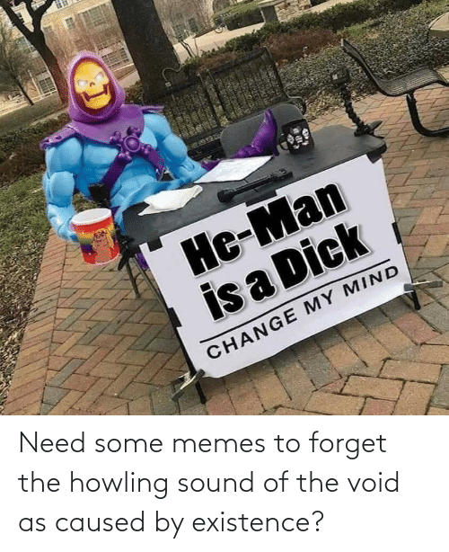Memes To: Need some memes to forget the howling sound of the void as caused by existence?