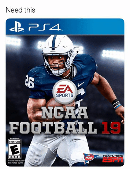 Football, Nfl, and Sports: Need this  SPORTS  NCAA  FOOTBALL !  EVERYONE  FEATURING  ESRB  Online Interaction  Not Rated by the