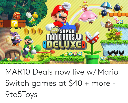 mario pictures: Neiw  MARIO BROS.U MAR10 Deals now live w/ Mario Switch games at $40 + more - 9to5Toys