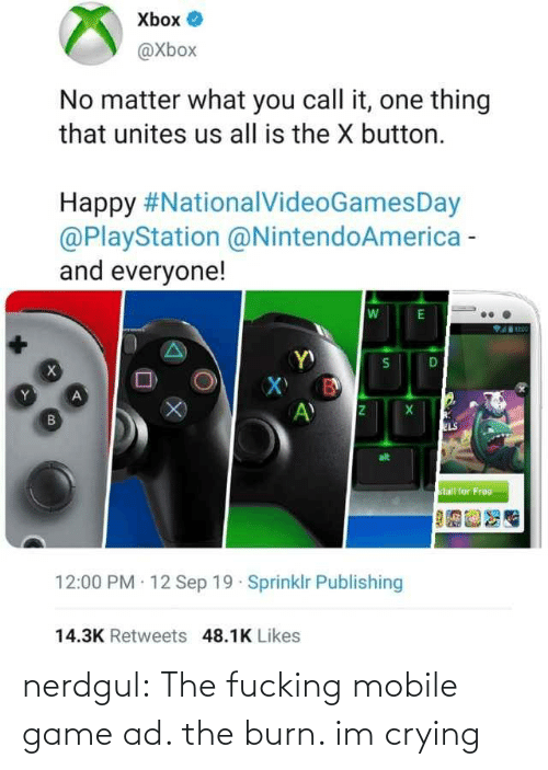 Mobile: nerdgul: The fucking mobile game ad. the burn. im crying