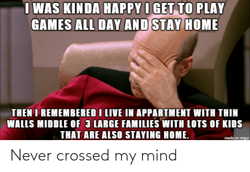Crossed: Never crossed my mind