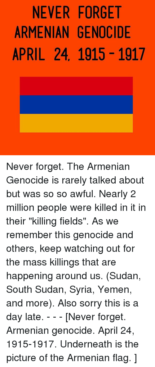never forget the genocides