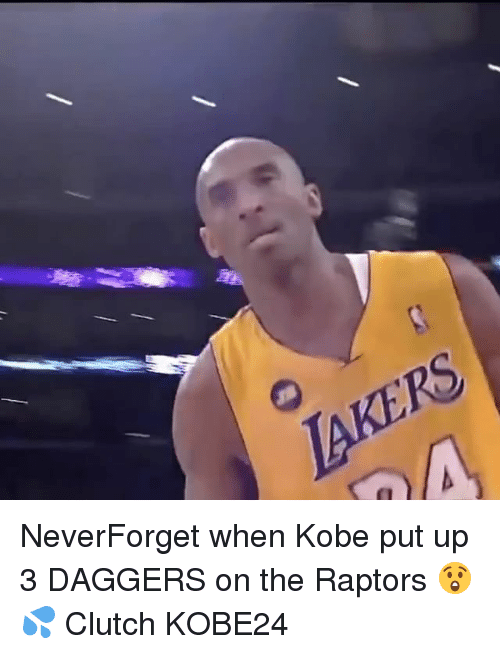 Clutchness: NeverForget when Kobe put up 3 DAGGERS on the Raptors 😲💦 Clutch KOBE24