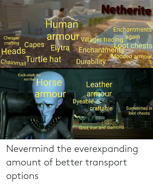 nevermind: Nevermind the everexpanding amount of better transport options