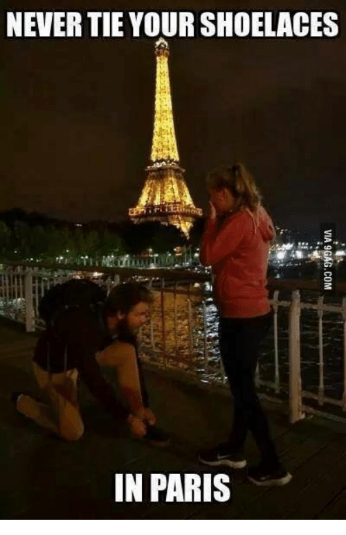 Mexican Word of the Day: NEVERTIE YOUR SHOELACES  IN PARIS