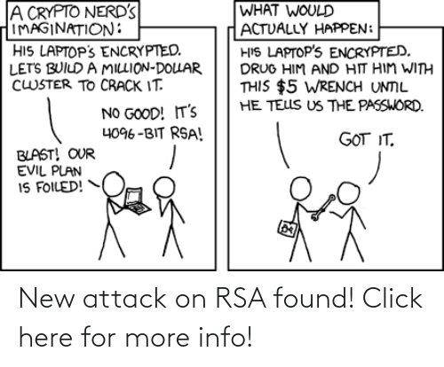 Click: New attack on RSA found! Click here for more info!