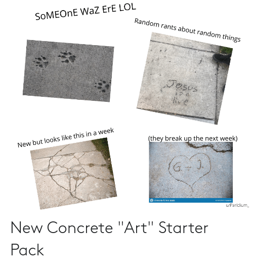 "concrete: New Concrete ""Art"" Starter Pack"