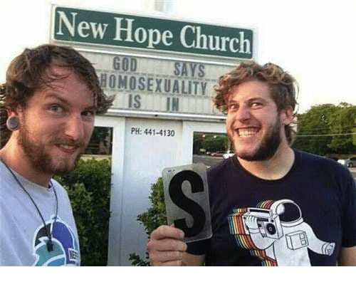 New Hope: New Hope Church  HOMOSEXUALITY  IS IN  PH: 441-4130