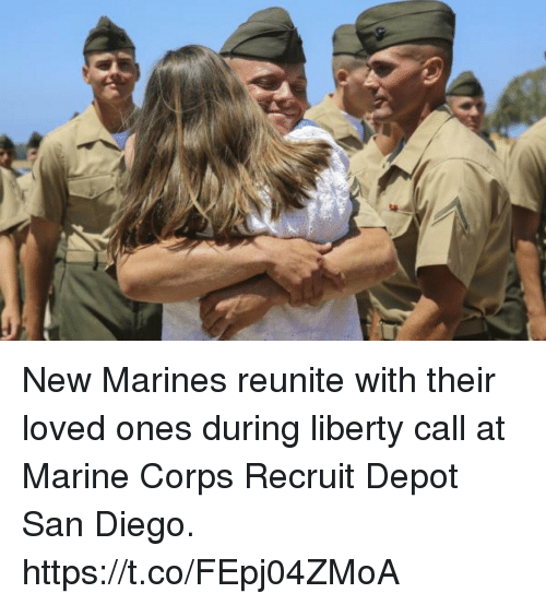 Corpsing: New Marines reunite with their loved ones during liberty call at Marine Corps Recruit Depot San Diego. https://t.co/FEpj04ZMoA