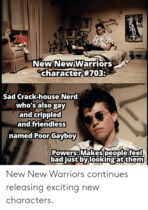 exciting: New New Warriors continues releasing exciting new characters.