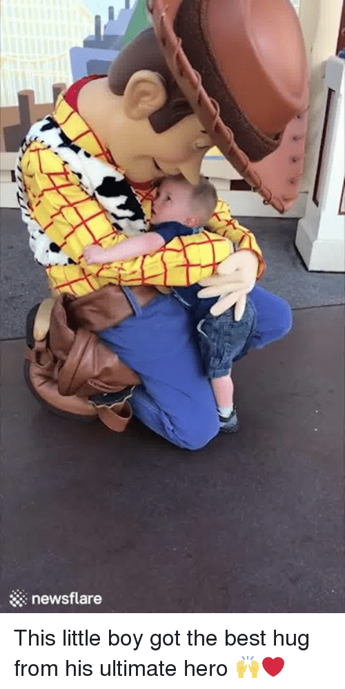 Best, Boy, and Got: newsflare This little boy got the best hug from his ultimate hero 🙌❤️