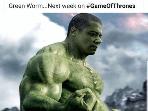 Game of Thrones, Worm, and Gameofthrones: Next week on #GameOfThrones  Green Worm