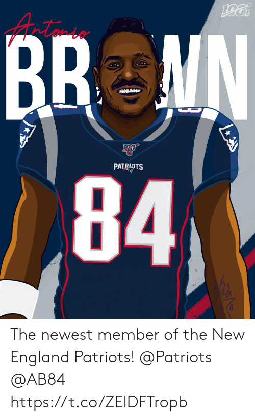 England Patriots: NFL  BR MN  84  D  PATRIOTS The newest member of the New England Patriots!  @Patriots   @AB84 https://t.co/ZElDFTropb