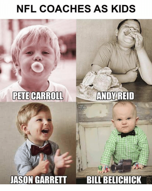 Pete Carroll: NFL COACHES AS KIDS  PETE CARROLL  ANDY  REID  JASON GARRETTBILL BELICHICK