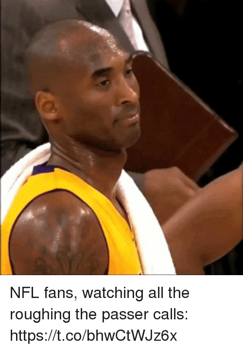 nfl fans: NFL fans, watching all the roughing the passer calls: https://t.co/bhwCtWJz6x
